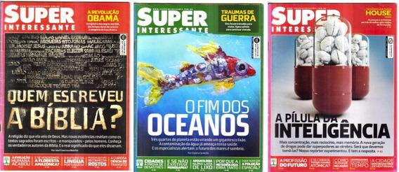 Lote 3 Revistas Super Interessante Edições 259 260 271