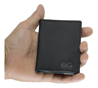 Porta Cartão Mini Carteira Em Couro Legítimo Super Promoção
