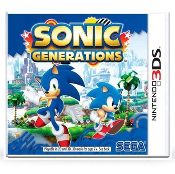 Sonic Generations 3ds Mídia Física Pronta Entrega