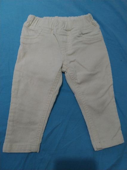 Pantalon Corderoy Elastizado Cheeky Talle M. 6 A 9 Meses.