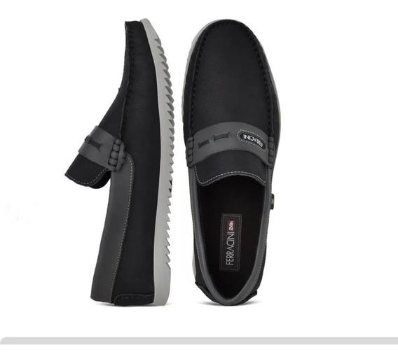 Sapato Ferracini Masculino Regata Marinho 2108b