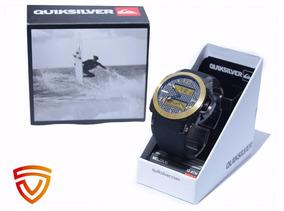 Relógio Quiksilver Molokai Preto/ Dourado