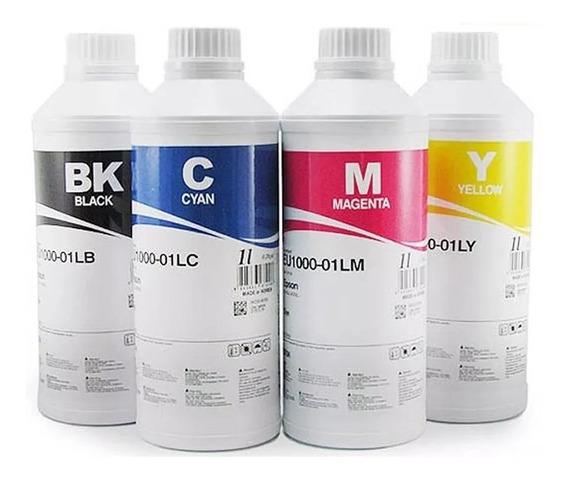 1 Litro Preta + 3 X 500ml Tinta Pigmentada Inktec Hp Pro