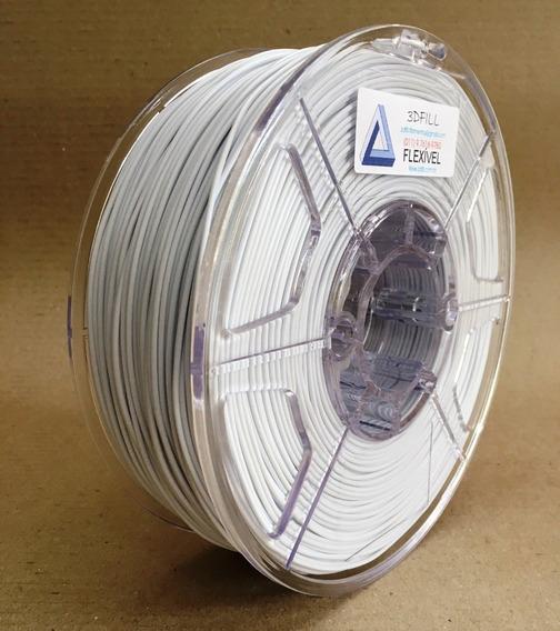 Filamento 3d Flexível Tpu Branco_1,75mm- 1kg - Frete Gratis
