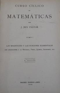 Libro Curso Cíclico De Matemáticas J Rey Pastor Tomo 1