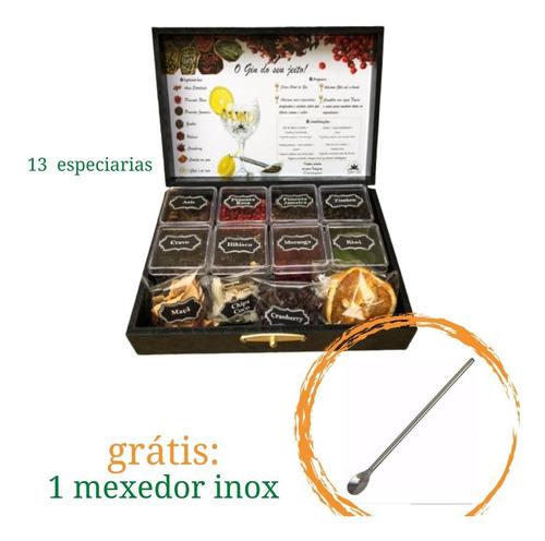 Imagem 1 de 4 de Kit Gin  13 Especiarias Drink Grátis Mexedor Bar - Envio 24h