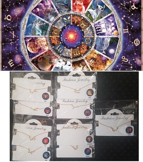 Collares De Constelaciones Zodiacales Importadas Usa Cristal