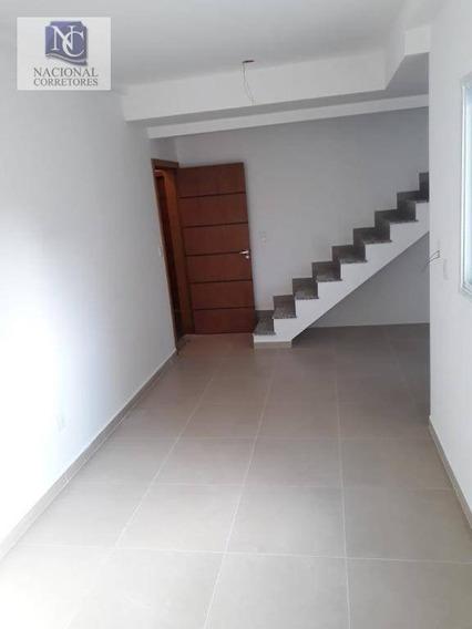 Cobertura Com 2 Dormitórios À Venda, 89 M² Por R$ 315.000,00 - Campestre - Santo André/sp - Co4166