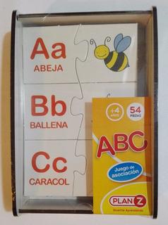 Asociación Abc Rompecabezas Letras 54 Piezas Didactikids