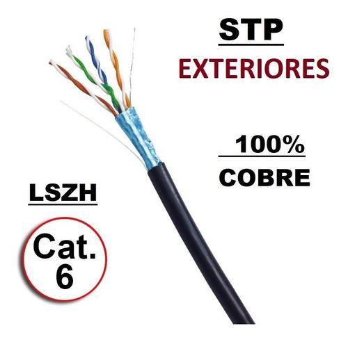 Imagen 1 de 4 de Cable Internet, Stp ,  Red , Exterior, Cat 6 Cobre