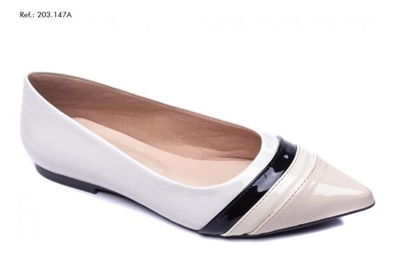 Sapato Feminino Sapatilha Torricella Creme