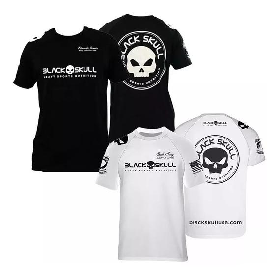 Camiseta Branca Dry Fit + Camiseta Bope - Black Skull
