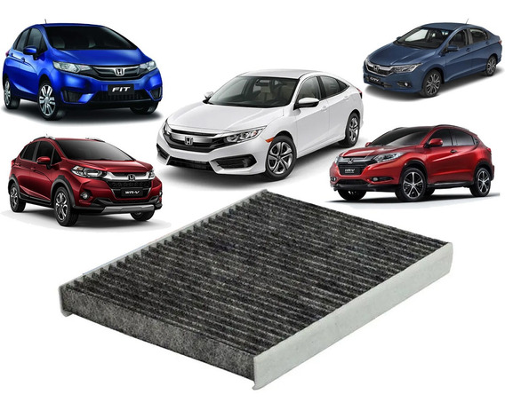 Filtro Cabine Carvão Ativado Honda Civic Fit City Hrv Wrv