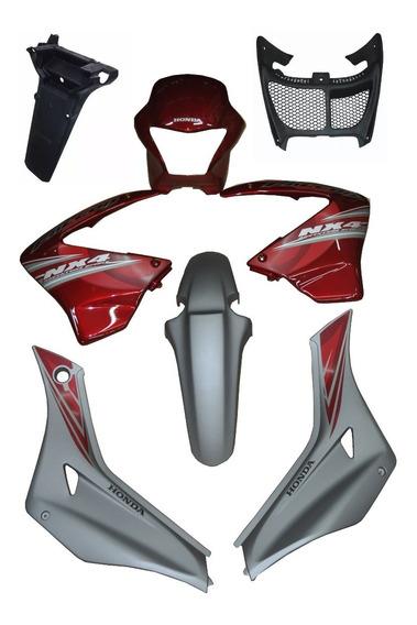 Kit De Carenage Honda Falcon Nx 400 - 2008 Vem C/ Adesiv Pç8