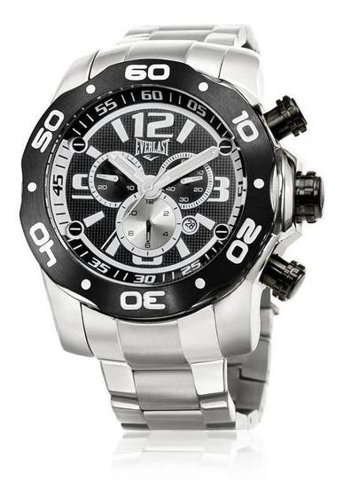 Relógio Pulso Everlast Masculino Cronógrafo Pulseira E597