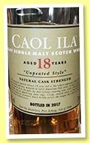 Whisky Caol Ila 18 Años Unpeated 58.8% Ed 2017 Palermo