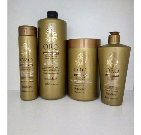 Natumaxx Kit Oro Therapy 24k 4 Produtos + Anabolizante 3,2kg