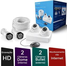 Kit Segurança Multilaser Completo 4 Cameras Dvr 4 Ch + Cabos