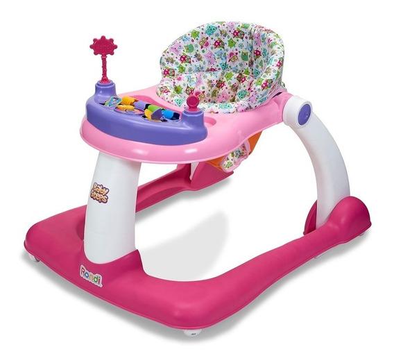 Andador Caminador Rosa Rondi Baby Steps 2 En 1 Punto Bebé