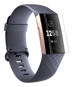 3 X Películas Filme Protetora Para Relógio Fitbit Charge 3