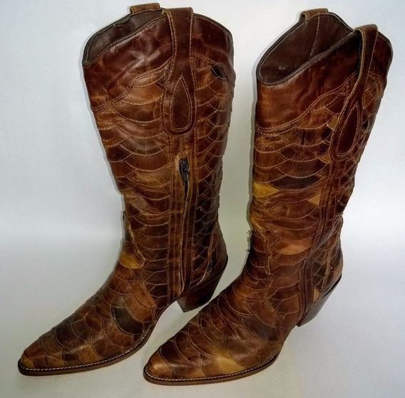 Bota Country Feminina Texana Lady Silver - Escamada - Num.37