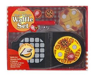 Melissa Y Doug Press And Serve Waffle De Madera Set 23 Pieza