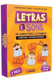 Livro Letras E Sons 2 Volumes - Alfabetização 1º Ano