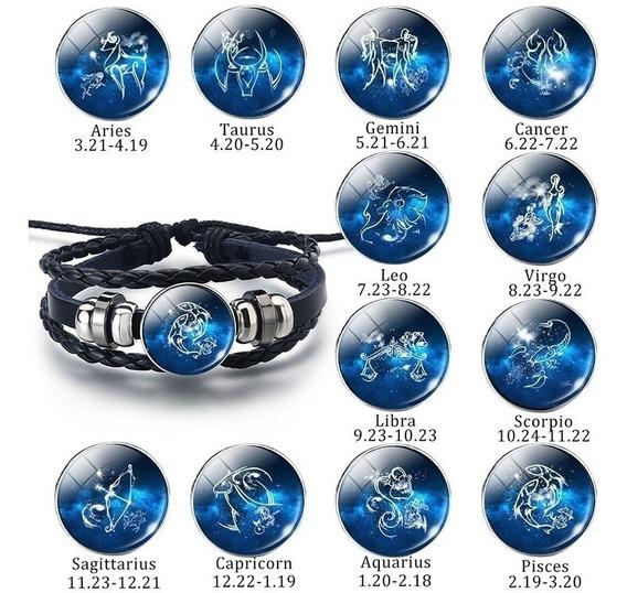 Pulseira Signos Zodíaco Bracelete Constelações Horóscopo Mod