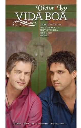 Box 02 Dvds 02 Cds Victor & Leo Vida Boa - 4 Discos