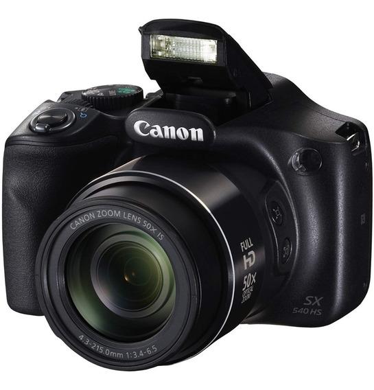 Câmera Digital Canon Powershot Sx540 Hs + Bolsa + Cartão