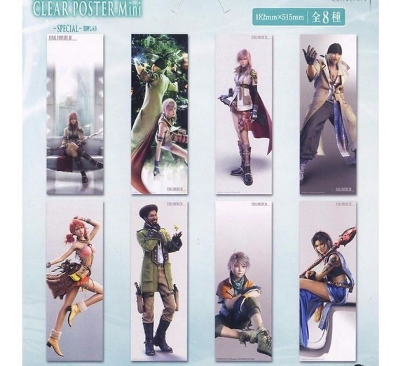 Final Fantasy Xiii Set De 8 Mini Posters Translúcidos