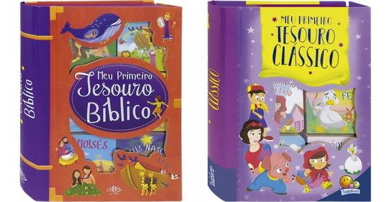 Meu Primeiro Tesouro Bíblico + Clássico Box 6 Livro + Brinde