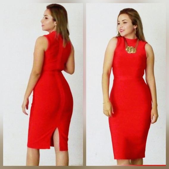 Vestido Bandage Rojo Sexi Pero Elegante