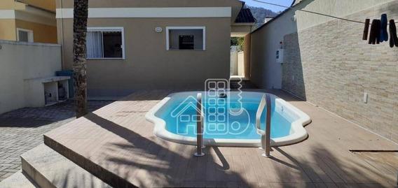 Casa Com 3 Dormitórios À Venda, 120 M² Por R$ 470.000,00 - Serra Grande - Niterói/rj - Ca1083