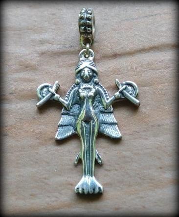 Pingente Deusa Lilith Demônio Noturno - Prata 6,9 Gr Opç 01