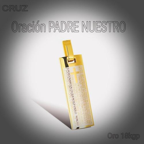 Cadena Cruz Oro 18kgp