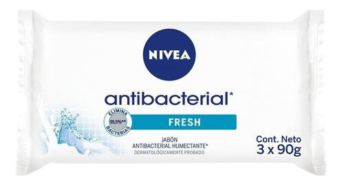 Jabón De Tocador Nivea Antibacterial X 3 Unidades