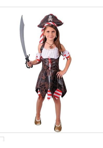 Disfraz Pirata Sexy Niña Talla 6