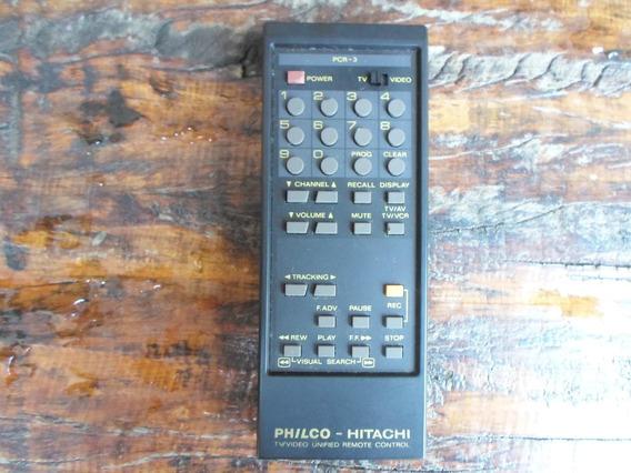 Controle Remoto Philco Hitachi Pcr-3 Novo O Mais Barato