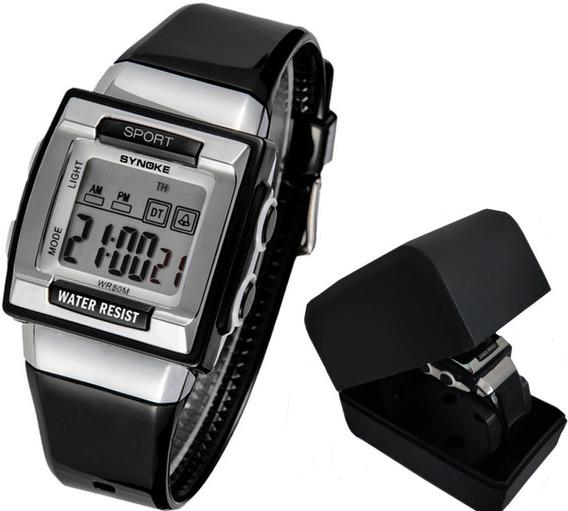 Relógio Infantil Synoke 6188 Sport Luz De Led, Alarme