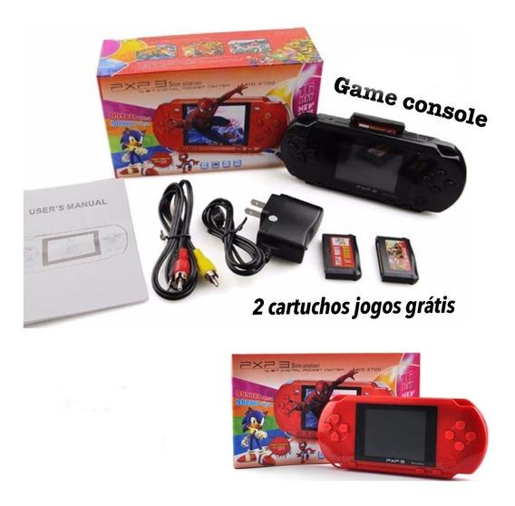 Console Portatil Estilo Psp Vários Jogos Mario Bros Classic