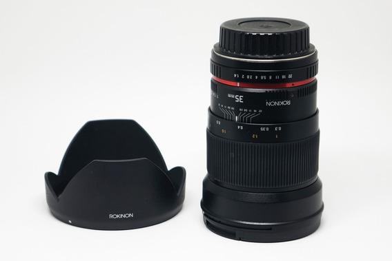 Rokinon 35mm F/1.4 Para Canon - Mesmo Modelo Samyang E Bower