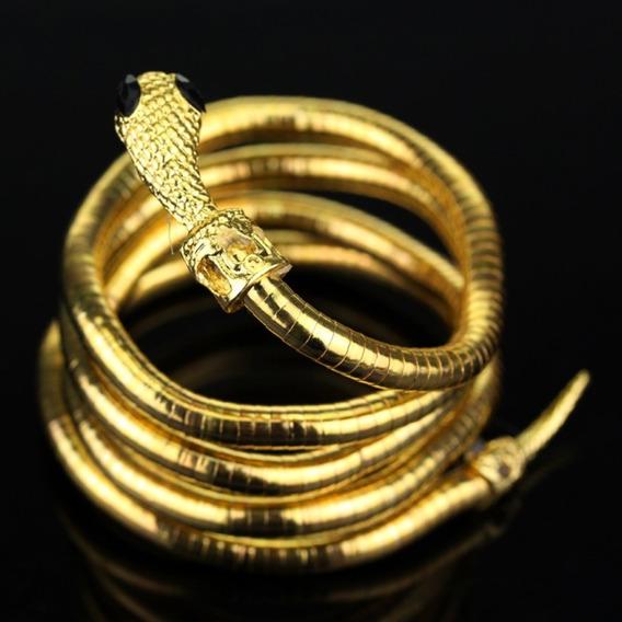 Pulseira Shadowhunters Izzy Cobra Dourada Bracelete
