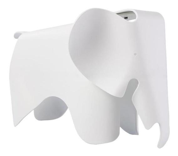 Banco Byartdesign Elefante Kids Charles Eames Branco