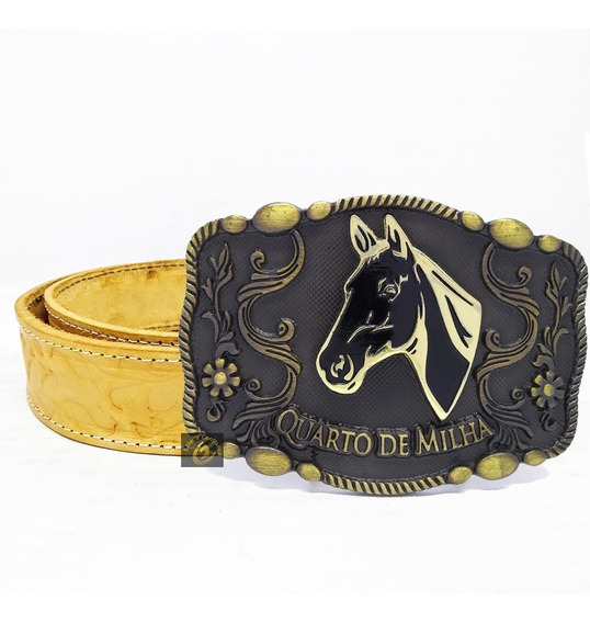 Cinto Country Masculino Cowboy Rodeo Fivela Quarto De Milha