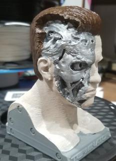 Busto Esqueleto Terminator De 18 Cm O La Medida Que Quieras