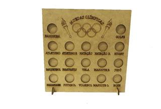 Kit 10 Porta Moedas Olímpicas Coleção Olimpíadas Mdf Cru