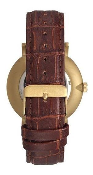 Relógio Seculus Masculino Dourado/marrom 20627gpsvdc1