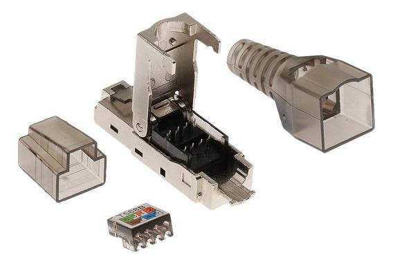 Cat6a Rj45 Rede Conector Modular Plugs Blindado Conectores E