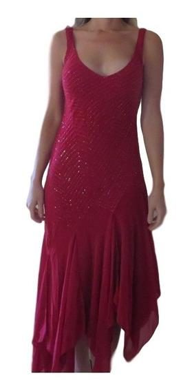 Vestido Usado Bordado Longo Midi Longuete Festa Baile M 40